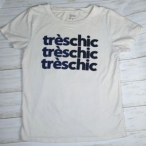 🌞2/$20 J.Crew Treschic Graphic Tee Medium